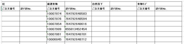 送り状番号 170615-3